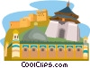 Tibet, Chaing Kai Shek monument, Apak Hoia Tomb Vector Clipart graphic
