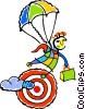 Vector Clipart graphic  of a parachute