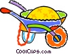 Vector Clip Art picture  of a wheel barrow