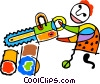 chainsaw Vector Clip Art graphic