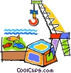Vector Clipart image  of a fishery