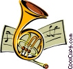 Vector Clipart graphic  of a French horn