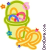 Easter basket Vector Clipart graphic