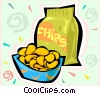 Potato chips Vector Clip Art picture