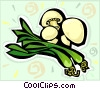onions mushrooms Vector Clipart illustration