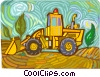 Front End Loader Vector Clipart picture