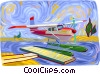 Vector Clipart picture  of a Float plane