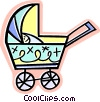 baby carriage Vector Clipart illustration