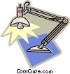 desk lamp Vector Clipart picture