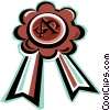 Vector Clip Art picture  of a prize ribbon