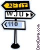 road signs Vector Clipart graphic