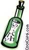 Vector Clipart image  of a message-in-a-bottle