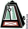 metronome Vector Clip Art graphic