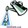 Vector Clipart picture  of a watering can