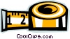Vector Clip Art graphic  of a tape measure