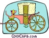 Vector Clipart illustration  of a carriage