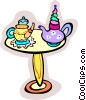 tea time Vector Clipart picture