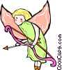 Vector Clipart graphic  of an angel with bow and arrow