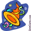 Vector Clip Art image  of a witch's hat