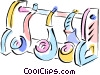smoker's pipes Vector Clipart graphic