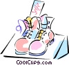 Vector Clip Art image  of a shoe sales