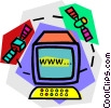Vector Clipart graphic  of a internet access