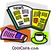 morning coffee with newspaper Vector Clip Art image