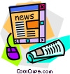Vector Clipart graphic  of a internet news concept