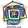 Vector Clip Art graphic  of a Internet search concept