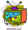television weather report Vector Clipart image