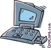 Vector Clipart image  of a laptop computer