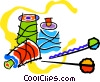 Vector Clipart graphic  of a sewing thread