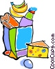 Vector Clipart picture  of a groceries
