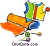 fabric Vector Clipart illustration