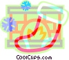 Vector Clip Art graphic  of a Christmas stocking with