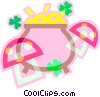 pot of gold Vector Clipart graphic