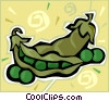Vector Clipart graphic  of a peas