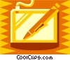 pen and mouse pad Vector Clip Art graphic