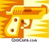 hand gun Vector Clip Art picture