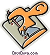 Vector Clip Art graphic  of a hole punch