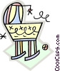 Vector Clipart picture  of a baby carriage