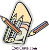Vector Clipart illustration  of a colored pencil