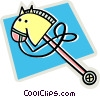 Vector Clipart picture  of a toy horse