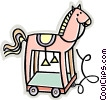 toy horse Vector Clip Art picture