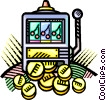 Vector Clip Art image  of a slot machine