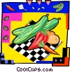 Vector Clip Art image  of a mixed vegetables