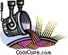 Vector Clipart graphic  of a steel smelting