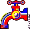 Vector Clipart picture  of a faucet