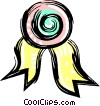 Vector Clipart image  of an award ribbon