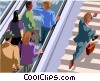 Vector Clipart illustration  of a taking the stairs
